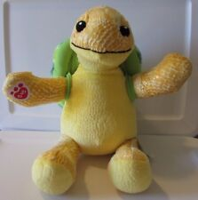 "Build A Bear Sea Turtle Yellow Green Removable Shell 17"" Textured Plush Babw"