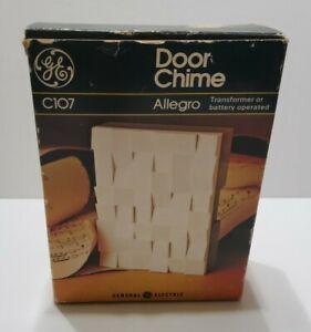 UNUSED Vintage GE Door Chime C107 Allegro Transformer or Battery Operated ©1976