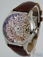 Montre squelette ROSEGOLD 41mm PURE MECANIQUE Type Unitas 6498 skeleton watch