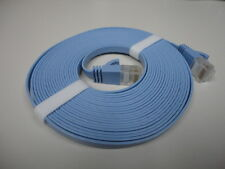 5M-16FT RJ45 CAT6a BLUE FLAT ETHERNET-INTERNET LAN NETWORK CABLE WIRE CORD (T13)