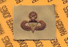 US Army Master Combat Jump Airborne Parachutist wing Desert DCU cloth patch