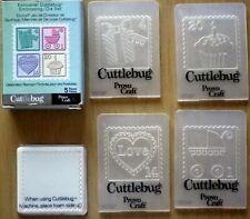 Cuttlebug Embossing Folders x 4 & Die for Big Shot machine / Celebration Stamps
