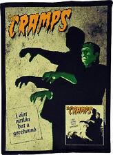 THE CRAMPS GOREHOUND ALBUM FRANKENSTEIN HORROR GARAGE BLACK COTTON PATCH A6+