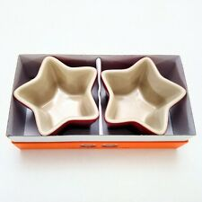 New listing New In Box, Le Creuset Star Ceramic Ramekins Red 4.5 oz, Set of 2