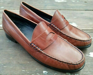 COLE HAAN PENNY LOAFERS SHOES BROWN - MEN'S SIZE 10