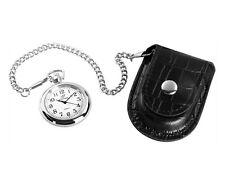 Taschenuhr mit Etui Bikeruhr Cowboyuhr schwarz/ silber Uhr Uhren NEU#