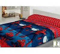 Set 3 piezas sábanas coralina. Spiderman. Encimera, bajera, funda almohada