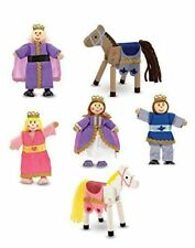 Melissa & Doug Royal Family Wooden Poseable Doll Set for Castle and Doll's House
