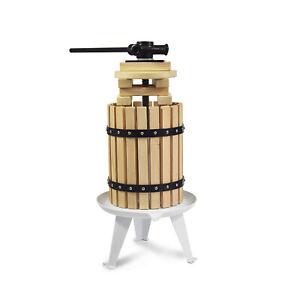 4.75 Gallon Fruit Wine Press Solid Wood Basket Cider Apple Wine Making for Home