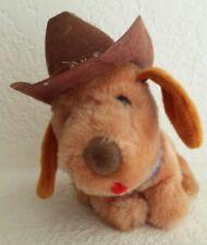 "Plush Dakin Billy Bob Cowboy Dog Plush 5 1/4"" Vintage"