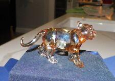 "Swarovski Scs Tiger Cub Standing New In Box 3 3/4"" Long"
