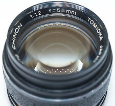 Tomioka Auto Chinon 55mm f/1.2 manual camera lens, M42 screw mount, Japan 1:1.2