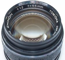 Tomioka Auto Chinon 55mm f/1.2 manual camera lens, M42 screw mount, Japan 1:1.2