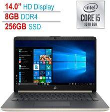 New HP 14 in Laptop i5 1035G1 8GB SDRAM 256GB SSD +16GB Intel Optane W10
