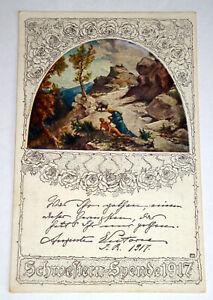 AK + Der barmherzige Samariter, Cüstrin, Neumark, Schwestern-Spende (1918) gel.