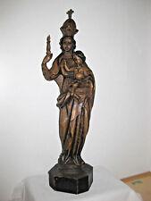 Holzschnitzerei, heilige Maria mit Kind,  44 cm, natur , Spanisch, TOP