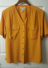SHIP'N SHORE Womens Shirt Top Thin Blouse Career Work Office Size 12
