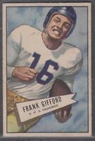 1952 Bowman Small Frank Gifford Rookie #16 New York Giants