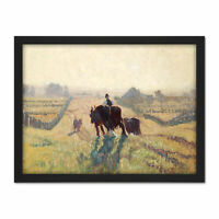 Elioth Gruner Frosty Sunrise Painting Large Framed Art Print