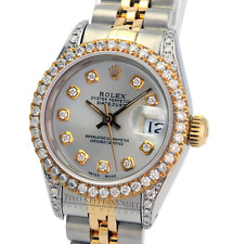 Ladies Rolex Datejust  26mm  Silver  Diamond Dial Diamond Bezel 1.40CTW-QUICKSET