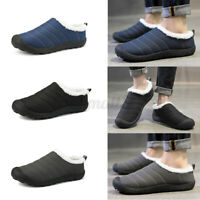 Men's Winter New Slip On Warm Shoes Loafers Fur-Lined Outdoor Casual Slipper