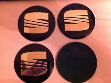 4x 90 mm seat 9 cm llanta leon ibiza toledo cordoba alhambra logo