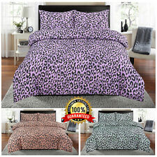 Luxury Leopard Print Design Duvet Set Quilt Cover Bedding Double Size ONLY