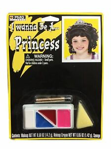 PRINCES MAKEUP KIT SCARY HALLOWEEN FACE PAINTING FANCY DRESS ACCESSORY