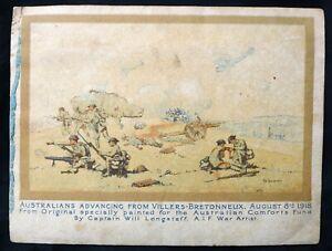 WW1 TUCK AUSTRALIAN ARMY COMFORT FUND XMAS & NEW YEAR'S GREETINGS CARD 1918-19.