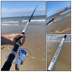 SEA FISHING COMBO 12FT 2pc MACKEREL PRO BEACHCASTER ROD 4-6oz + SK7 SEA REEL