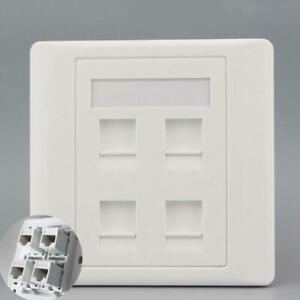 Wall Socket Plate  Network Ethernet Outlet Panel Faceplate