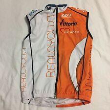 Men's Louis Garneau Real Cyclist Windtex Thermal Vest, Orange/White, Small GUC
