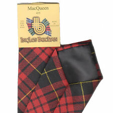 Tartan Tie Clan MacQueen Modern Scottish Wool Plaid