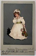 Merry Christmas Ethel Parkinson fröhliche Weihnachten Chinamen Doll Postcard A13