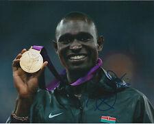 David Lekuta RUDISHA Autograph Signed Photo AFTAL COA Kenya Distance Runner RARE