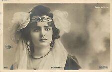 c1905 French Real Photo PC Reutlinger Casino de Paris, 'De Villers' Lovely Woman