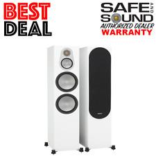 *Open Box* Monitor Audio Silver 500 Floor Standing Speakers (Pair) Satin White