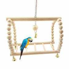 Hanging Parrot Bridge Ladder Swing Wooden Bird Cage Toys Pet Climbing Budgie