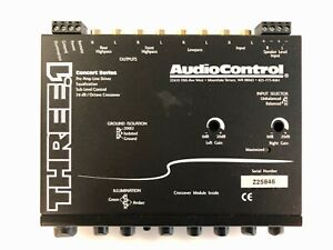 Audio Control THREE.1 In-Dash Pre-Amp Equalizer / Subwoofer Crossover, BLACK NE
