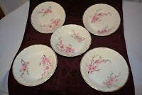 WS George Bolero Peach Blossom Set of 5 Small Fruit Bowls Gold Trim Antique