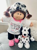 Cabbage Patch Doll 1984 w/Customized Dalmatian Outfit & Furry Friend