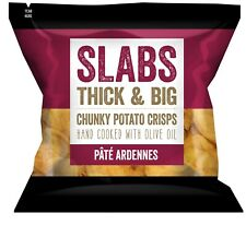 Slabs - Pate Ardennes Thick & Big Chunky Potato Crisps Hand Cooked 14 x 80g Pack