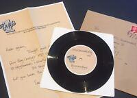 """David Bowie Unique Little Drummer Boy 7"""" Acetate w/ Authenticity Letter, Mailer"""