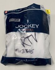 Jockey Classic V-Neck T shirts White 4-pack Cotton Small 34-36 NEW/OPEN BAG