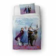 Disney Frozen 2 Movie Bedding Single Reversible Duvet Cover & Pillowcase Cotton
