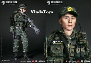 Chinese Armed Force Snow Leopard Commando Team Member Dam Toys 1/6 78052 USA
