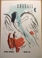 Marc Chagall,Mourlot,Kunsthalle Bern Poster,Offset Lithograph,Vintage 1966.