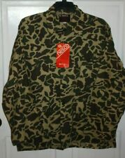 New With Tags Vintage Camo Hunting Jacket Shirt Nesco Sportsman Adult XL