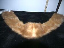 "Vintage Ladies Light Brown 25"" Long Mink Like Fur Collar Scarf /real fur"