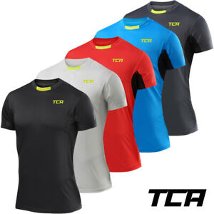TCA Men's Atomic Lightweight Short Sleeve QuickDry Breathable Running Gym Top